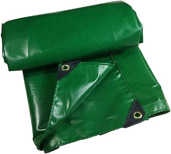 Bache imperméable avec Oeillets métalliques et Bords renforcés pour Toit, Camping, extérieur, Patio, réversible, 350G   m2, 9 Tailles Disponibles