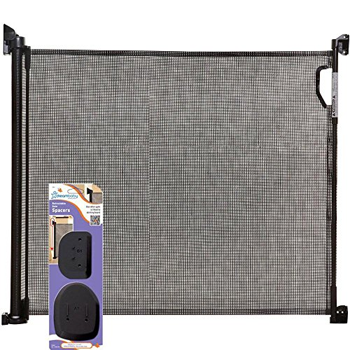 Dreambaby - Retractable Gate with Spacers - Black