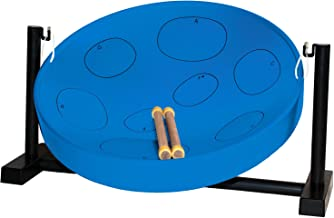 Panyard Jumbie Jam Steel Ready to Play Kit-Blue G-Major with Table Top Stand-Made in USA Authentic Pan, 16-inch (W1085)