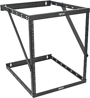 Tripp Lite 8U/12U/22U Expandable Wall-Mount 2-Post Open Frame Rack, Adjustable Network Equipment Rack, UPS Depth, 23.5