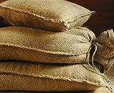 Noor Sandsäcke Jute 20kg (30 x 60 cm) 10er Pack Hochwasser Sandsack Dammschutz