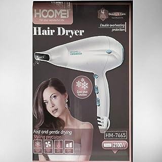 HOOMEI HM-7665 - Secador de pelo para mujer y hombre, 2100 W