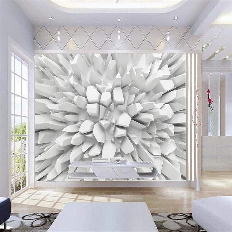 barato ZHENSI Fondos De Pantalla 3D Gran Pintura Decoración Decoración Decoración del Hogar En Geometría Sólida Papel Tapiz De Murales En 3D Hotel Mural De Parojo Modernos para Sala De Estar130(H)×200(W) Cm  Ahorre 35% - 70% de descuento