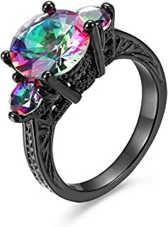 14KT Black Gold Mysterious Gothic Rings for Women