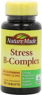 (4 Pack)-Nature Made Stress B Complex with C & Zinc Tablets, 75 Count each