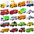 JOYIN 20 Piece Pull Back Cars, Die Cast Metal Toy Cars, Vehicle Set for Toddlers, Kids Play Cars, Matchbox Cars for Girls and Boys, Child Party Favors, Kids Best Gifts by Joyin Inc