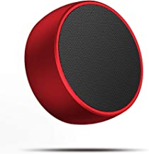 Portable Bluetooth Speaker,Mini Wireless Bluetooth Speaker for Outdoors with Bass and Loud HD Stereo Sound,Built-in Mic,Car Handsfree Call, AUX and TF Card for iPhone,iPad,Tablet,Laptop,red