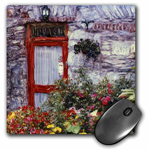 3dRose LLC 8 x 8 x 0.25 Ireland Clifton Flowers Polaroid Manipulation Joan Loeken Mouse Pad (mp_81983_1)