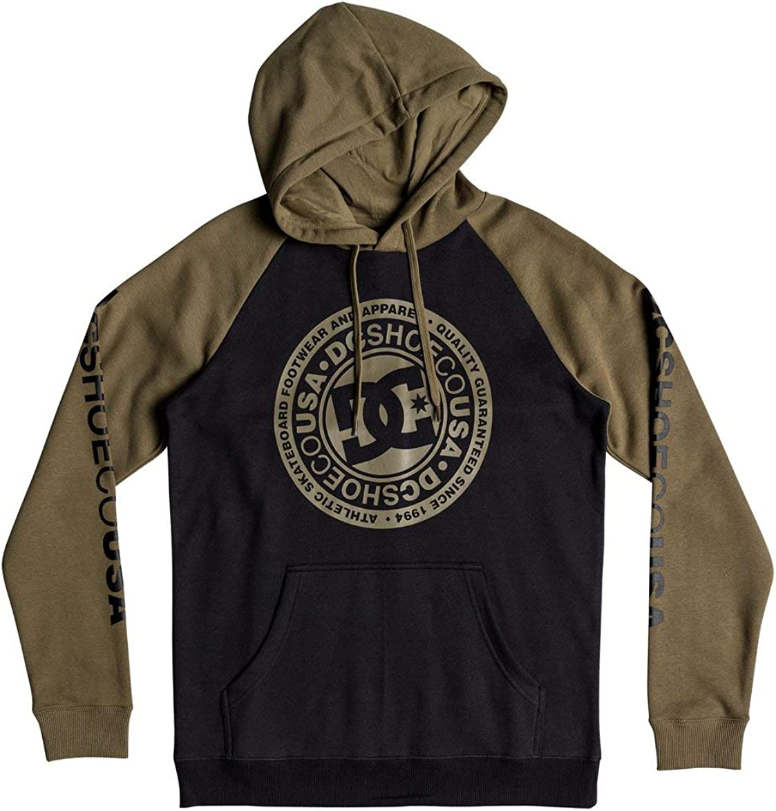 DC Shoes Circle Star - Sweat à Capuche pour Homme EDYSF03178 Vert - Burnt Olive/Black
