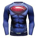 Cody Lundin Super Hero T-shirt imprimé pour hommes Fitness T-shirt à manches longues pour homme - Multicoloured - Large