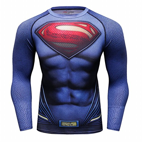 Cody Lundin Super Held Bedrucktes T-Shirt für Männer Fitness Herren Langarm T-Shirt, Multicoloured, M