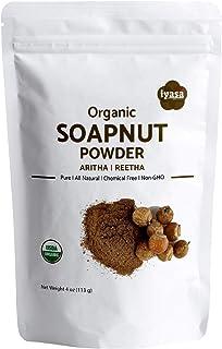 Organic Soapnut Powder, 8oz Value Pack, Aritha, Reetha ,Sapindus Mukorossi ,Natural Skin & Hair Cleanser Shampoo & Conditi...