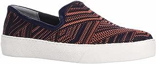 Sam Edelman Becker Slip-On Woven Fashion Sneakers, Orange/Navy