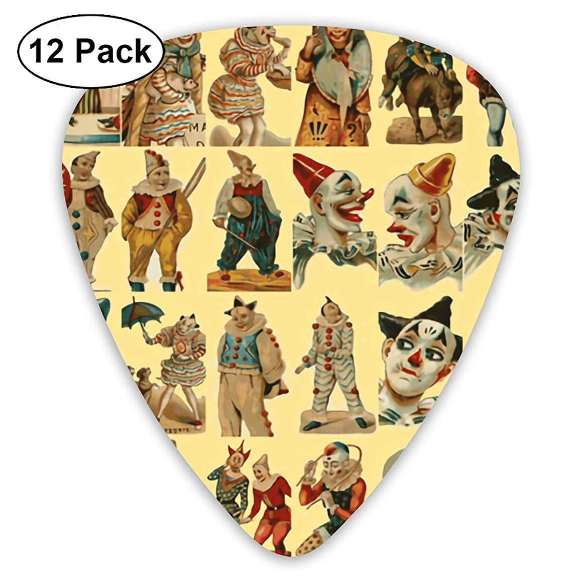 Medieval Clown Bendy Ultra Thin 0.46 Med 0.73 Thick 0.96mm 4 Pieces Each Base Prime Plastic Jazz Mandolin Bass Ukelele Guitar Pick Plectrum Display