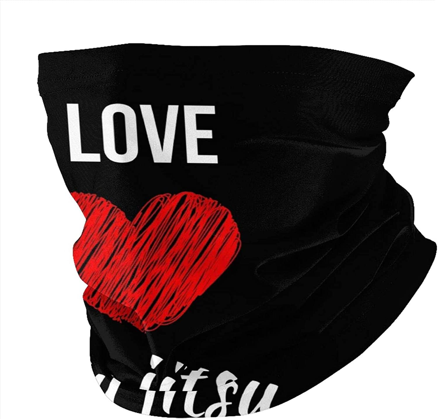 I Love Jiu Jitsu Round Neck Gaiter Bandnas Face Cover Uv Protection Prevent bask in Ice Scarf Headbands Perfect for Motorcycle Cycling Running Festival Raves Outdoors