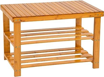 Amazonfr Banc Coffre Rangement Bambou Meubles Ameublement