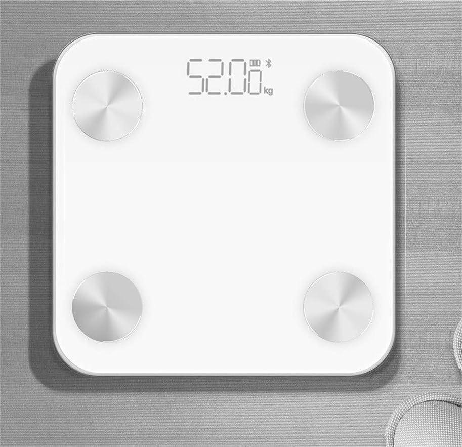 より哲学ユーモアミニ高精度体重計を失う重量デジタルバスルームスケール隠しスクリーンディスプレイ180キログラム容量Usb充電ホワイト
