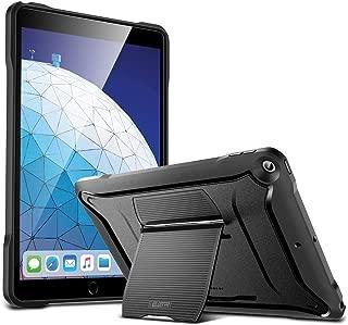 ESR iPad Air 2019 ケース スタンド内蔵 PC+TPU 耐衝撃タフケース ハードバックカバー 頑丈 衝撃吸収 全面保護 iPad Air3 2019モデル専用カバー(ブラック)