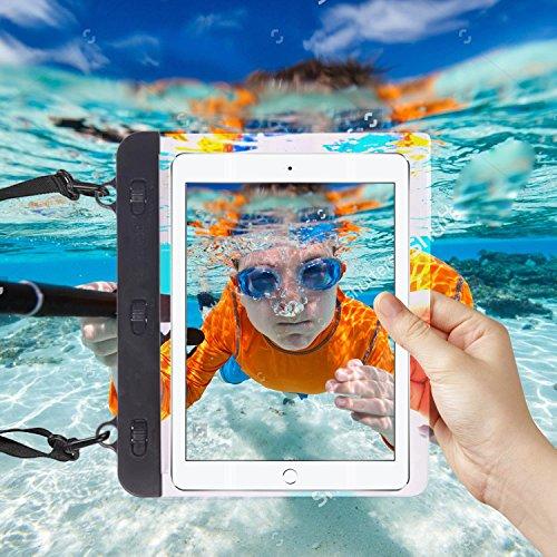 "I-Sonite Black Universal Waterproof Tablet Case Bag with Adjustable Neck Strasp Water For iBall Slide Gorgeo 4GL - 7"""