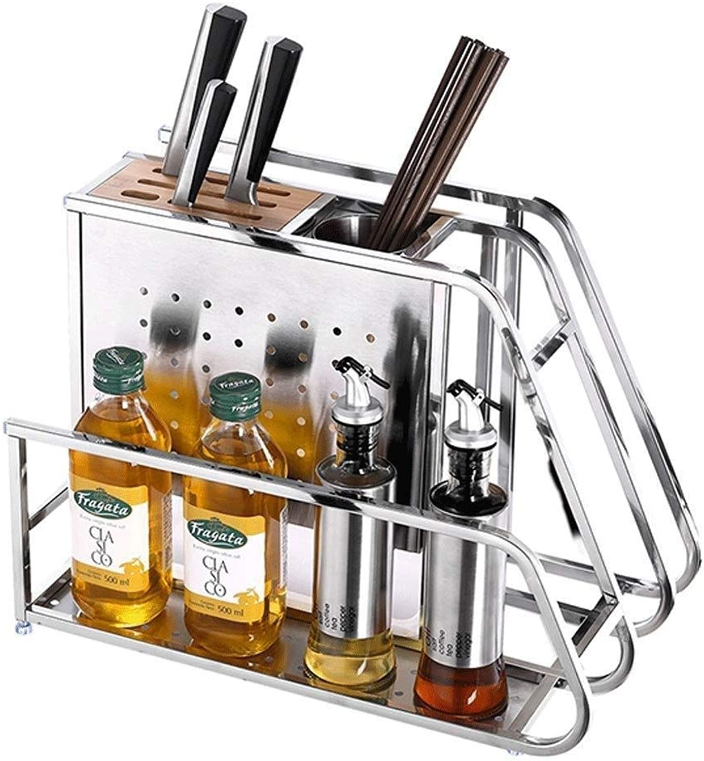 Organizer Rack Knife Holder- Stainless Steel Knife Holder Kitchen Supplies Cutting Board Kitchen Knife Cutting Board Cutting Tool Holder Knife Holder Rack Storage Rack ZXMDMZ