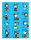 Snoopy Vintage Hallmark Peanuts Thanksgiving Stickers - 2 Sheets