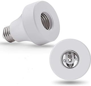WiFi Smart Light Bulb Socket Bulb Adapter Base Converter E27/E26 Lamp Holde Plug Works with Echo Alexa and Google Home Ass...