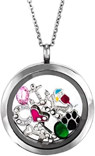 Eve's Addiction Round Build A Charm Glass Floating Locket