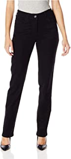 Lee Black Womens 8 Petite Straight Leg Classic Fit Stretch Jeans
