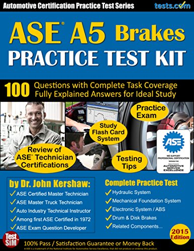ASE A5 (Brakes) Practice Test Kit - Automotive Certification...
