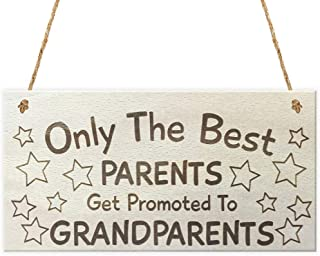 Aianhe Only The Best Parents Wood Signs Wall Hanging Craft Art Wooden Plaque with Sayings for Home Decor 10