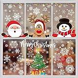 Funnlot Christmas Window Clings 262PCS Christmas Window Stickers Christmas Clings for Windows Christmas Window Stickers Santa Window Clings Christmas Window Sticker Santa Snowman Snow Window Stickers Home School Office Adornos Navideños Para El Hogar