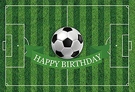 Genuine Banner Happy Birthday Soccer Party Celebration Male Female Girls Boys