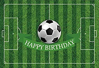 Yeele 7x5ft Birthday Backdrop Soccer Playground Sports Football Field Party Banner Home Photography Background Infant Children Boy Girl Baby Portrait Photo Booth Shoot Photocall Studio Props