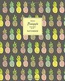Pineapple Notebook - Ruled Pages - 8x10 - Premium Notizbuch (Dark)