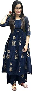 GoSriKi Women's Multicolor Printed Straight Kurta with Plazzo (SAMADHAN-GF)