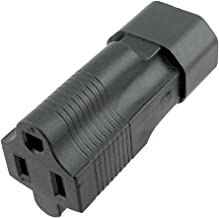 ACA1017 USA NEMA 5-15R to IEC C14 Plug Adapter with Official UL Certification. Most Popular Plug Adapter to Convert Normal Power Plug to The IEC Standard.