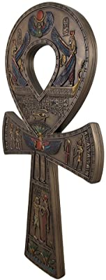 Bronze Finished Ancient Egyptian Ankh Symbol Wall Hanging 15 3/4 Inches