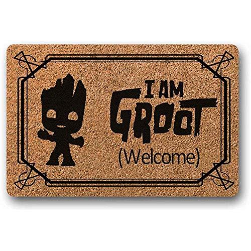 Novelcustom Türmatte,Ich Bin Groot Fußmatte Premium Fußmatte Welcome Mat Housewarminggeschenk Marvel Geschenk,80Cm*50Cm
