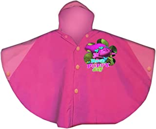 Poppy\Trolls Raincoat Hoodie,Children Raincoat,Waterproof,Official Licensed