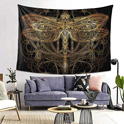GFHUTGD CGNGFNG - Tapiz de pared, diseño de libélula, para colgar en la pared, para dormitorio, dormitorio, dormitorio universitario, (80 x 60 pulgadas)