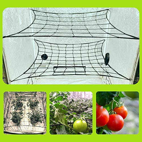 MEGALUXX 2-PK Dual Layer Trellis Netting for 4x4 5x5 4x2 Grow Tents - Net Trellis Net Grow Tent Net