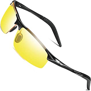 3ff8eae8e29 Sports Polarized Sunglasses for Men - wearPro Driving Sunglasses Al-Mg  Metal Frame WP1005