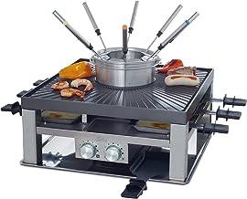 Solis 3 en 1 Combi Grill 796 Appareil a Raclette - Fondue, Raclette et Gourmande - Ensemble gourmet - Grill Electrique - C...