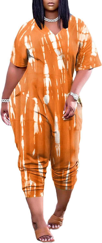 Women's Solid Color Sweat-Absorbent Jumpsu Wide-;Leg Superlatite Brand new Loose Harem
