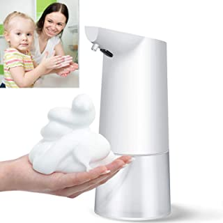 350ml Automatic Foaming Soap Dispenser, Auto Countertop Liquid Soap Dispenser, Hands Free Infrared Smart Pump for Liquid S...