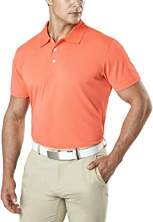 TSLA Men's Short Sleeve Polo Shirts, Regular fit Quick Dry Golf Shirts, Sports Performance Dri Flex Tech Solid Top Shirts