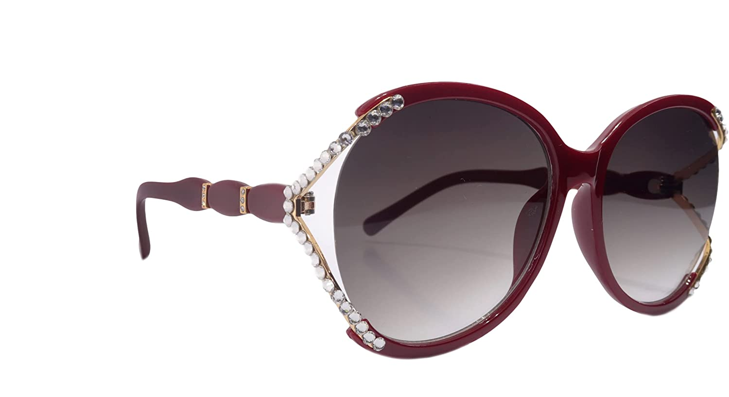 Bling Women Sunglasses Adorned Max 62% OFF with UV Pr Large-scale sale 100% Genuine Crystals