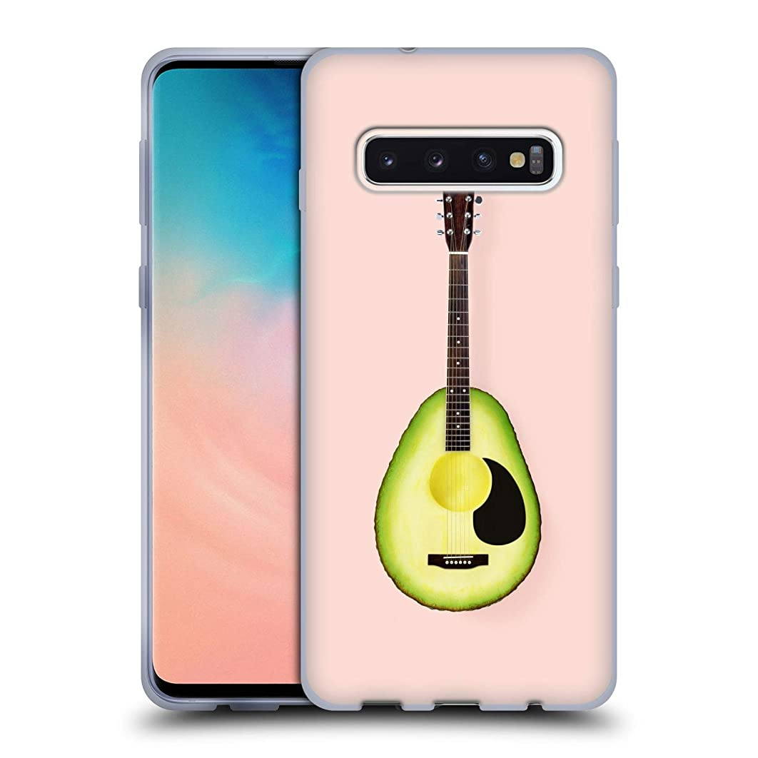Official Paul Fuentes Avocado Guitar Pastels Soft Gel Case for Samsung Galaxy S10