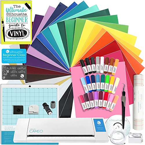 Silhouette CAMEO 2 Starter Bundle with 24 Oracal 651 Sheets,...