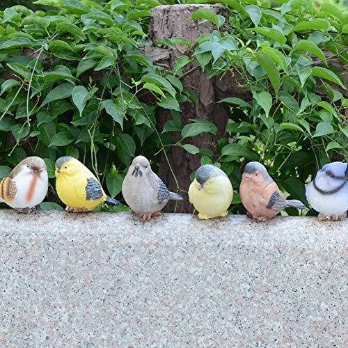 Vogel- und Gartendekoration aus Kunstharz, 6 Stück Free Size Zufällig